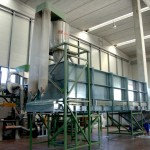 buffer for extrusion film recycling process
