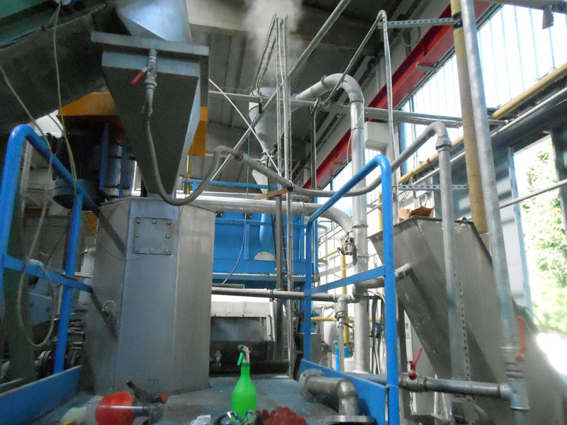 plastic pellets recycling machine